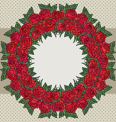 rosesframe vector image vector image