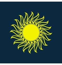 Sun icon Sun logo Summer design vector image vector image