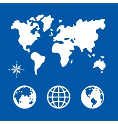 Symbol set Planet vector image
