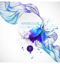 Watercolor wave background vector