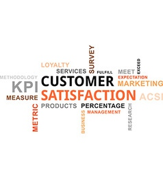 Word cloud customer satisfaction vector