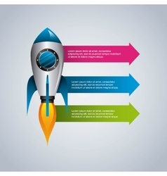 Rocket icon infographic design graphic vector