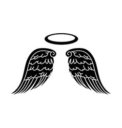 wing halo angel icon vector image