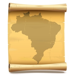 Paper scroll with brazil vector