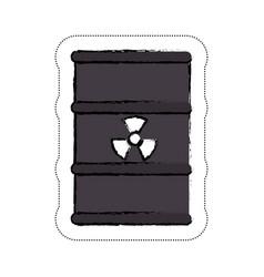 nuclear barrel icon vector image