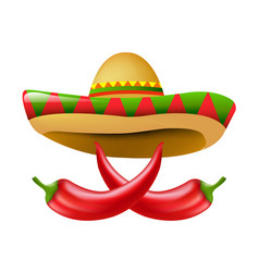 Mexican chili pepper vector