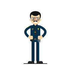 American policeman in uniform vector