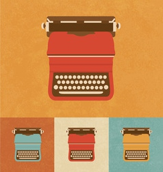 Retro typewriter vector