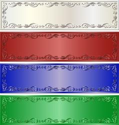 Long banners vector