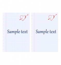 Note pad vector