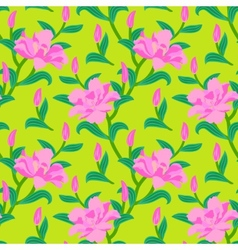 Floral seamless pattern with peony flowers vector