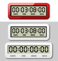 Lcd counter - countdown timer vector