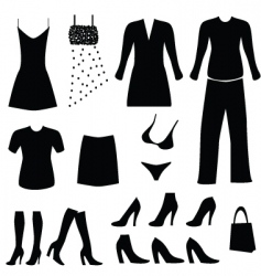 Clothing and fashion vector