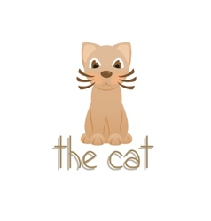 The cat cartoon kitty vector