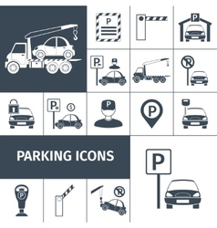 Parking lot set vector