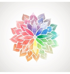 rainbow watercolor painted flower vector image