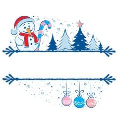 snowman frame vector image