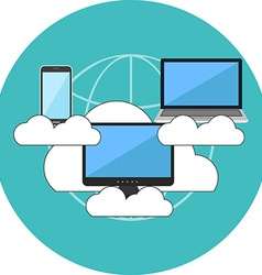 Cloud computing concept Flat design Icon in vector image