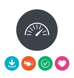 Tachometer sign icon revolution-counter symbol vector