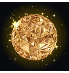 Geometric Disco ball vector image