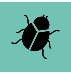 Bug icon design vector