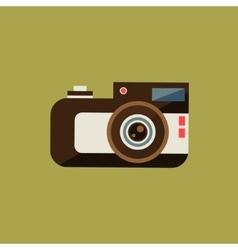Vintage film camera vector