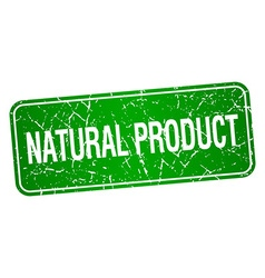 Natural product green square grunge textured vector