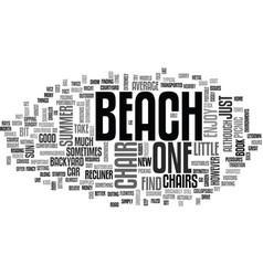 Beach chair text word cloud concept vector