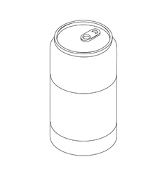 Beer can icon isometric 3d style vector image vector image