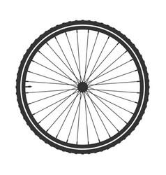 bicycle wheel symbol bike rubber mountain vector image vector image