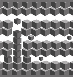 black and white cube geometric background vector image
