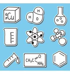Chemistry icons - stickers vector