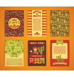 Cinco de mayo big set of templates with vector