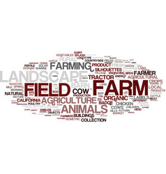 Farm word cloud concept vector