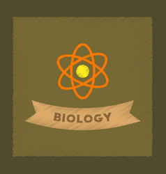 flat shading style icon biology molecule vector image