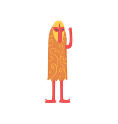 Freak man character in funny venetian costume vector