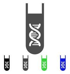 genetic analysis test-tube icon vector image