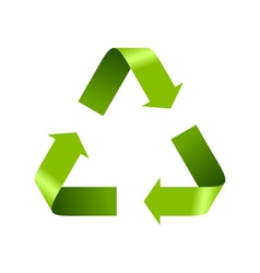 Green recycle logo sign isolated on white vector