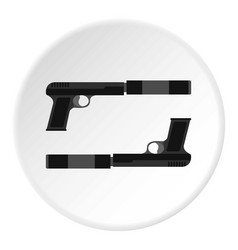 Gun icon circle vector