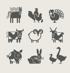 Home animal set icon vector
