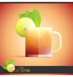 Lemon iced tea vector