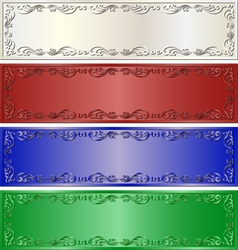 long banners vector image