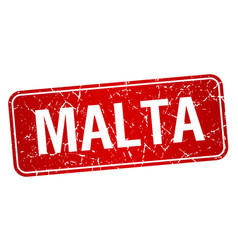 Malta red stamp isolated on white background vector