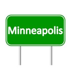 Minneapolis green road sign vector