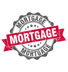 Mortgage stamp sign seal vector