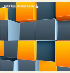 Orange and grey abstract 3d background vector