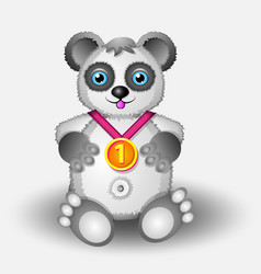panda with medal series vector image