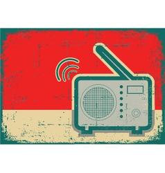 Retro radio grunge vector image