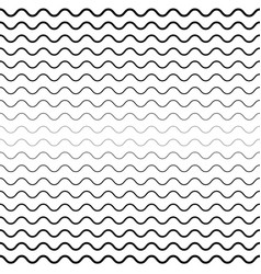 seamless wavy lines background vector image vector image