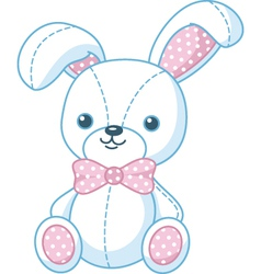 Soft toy bunny vector